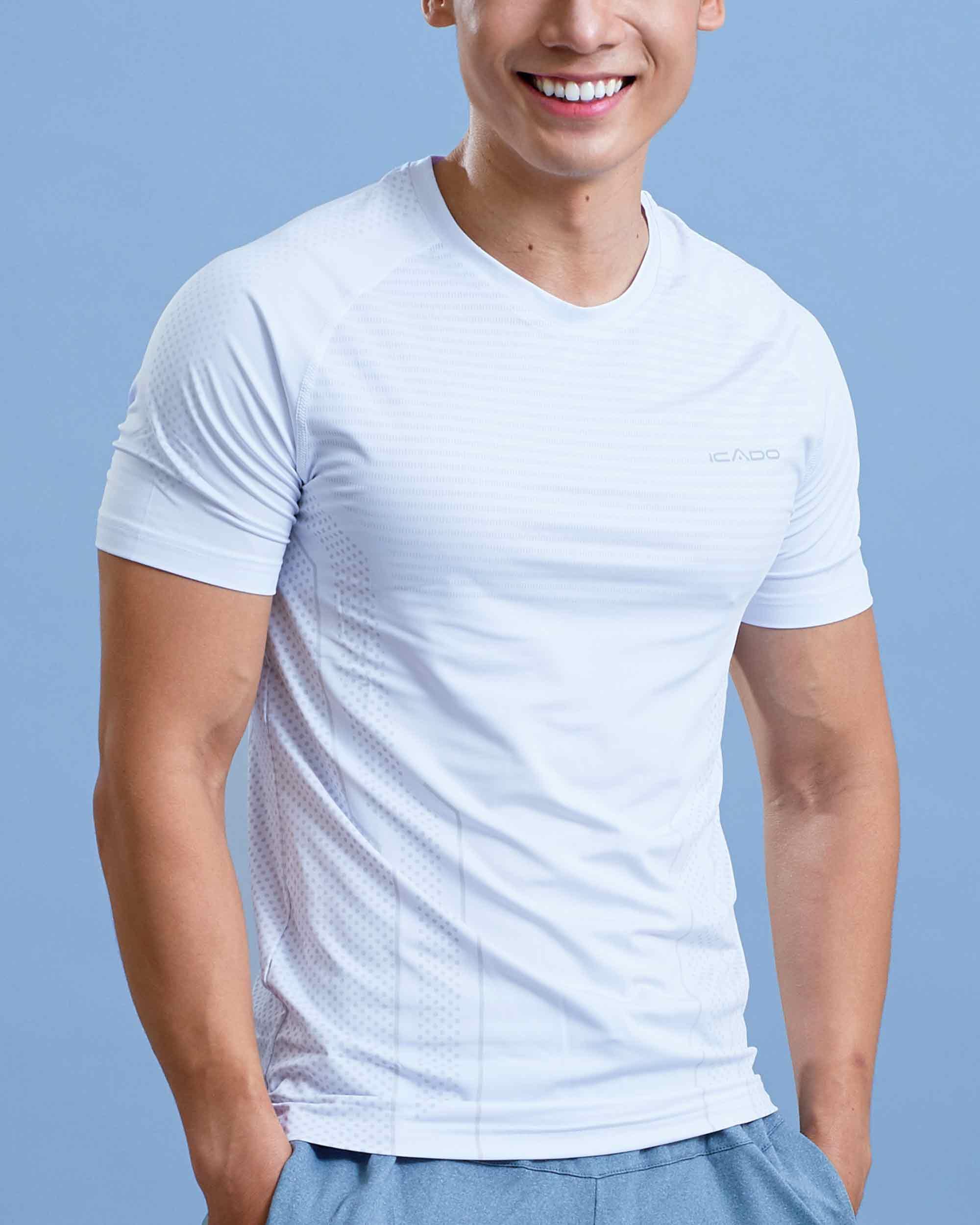Áo ngắn tay gym nam cổ tròn AA1