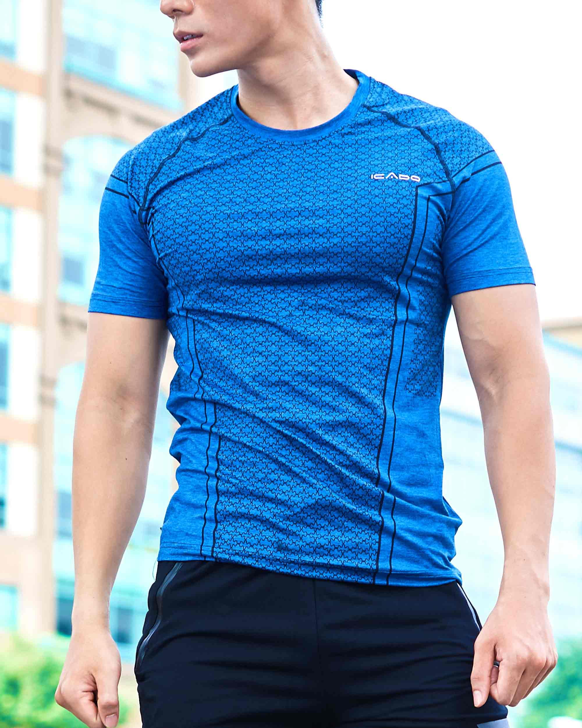 Áo ngắn tay gym nam cổ tròn AA6
