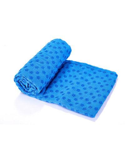 Khăn tập yoga màu xanh dương
