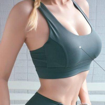 Áo bra gym nữ cài khuy khoét lưng HN15