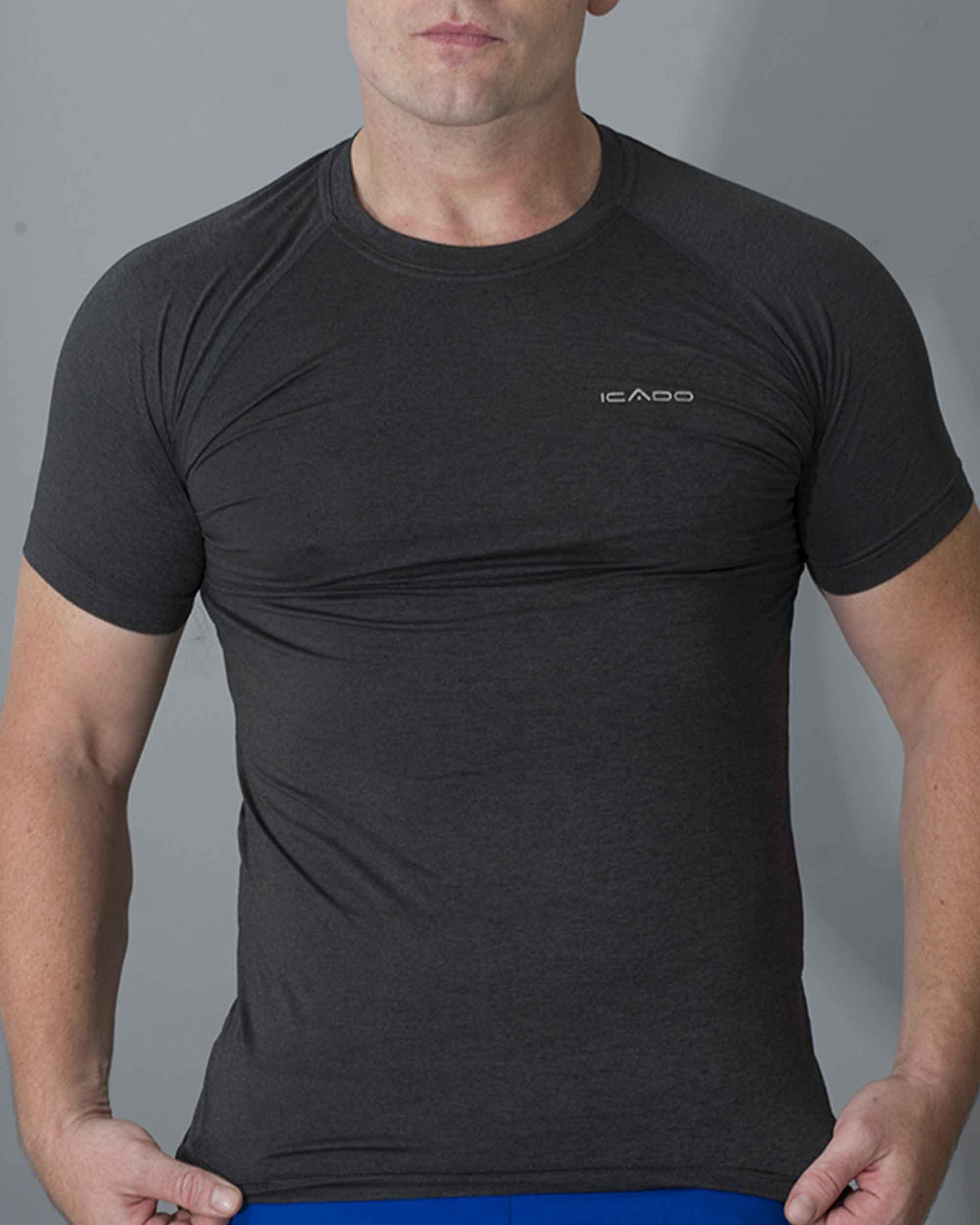 Áo ngắn tay gym nam cổ tròn HY18