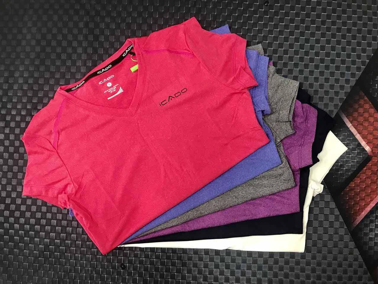 Áo ngắn tay thể thao nữ cổ tim MM41