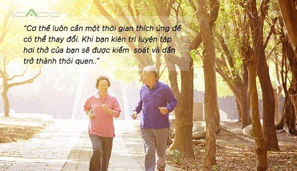 Mới bắt đầu tập hít thở khi chạy bộ, điều bạn cần nhất là kiên nhẫn.
