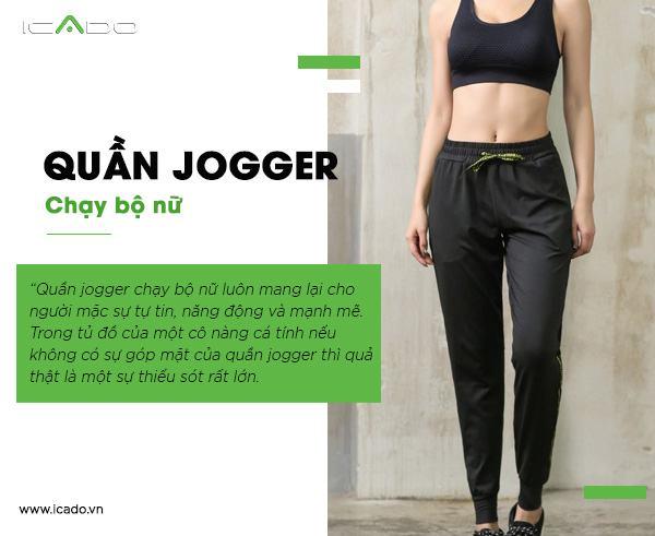 Quần jogger chạy bộ nữ luôn mang lại cho người mặc sự tự tin, năng động và mạnh mẽ.
