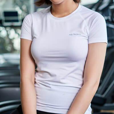 Áo ngắn tay tập gym yoga nữ at1