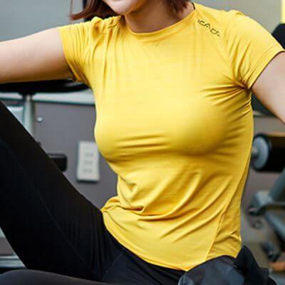 Áo ngắn tay tập gym yoga nữ icadmm47