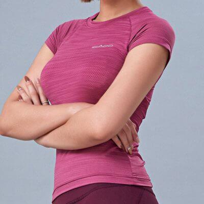 Áo ngắn tay tập gym yoga nữ MM39