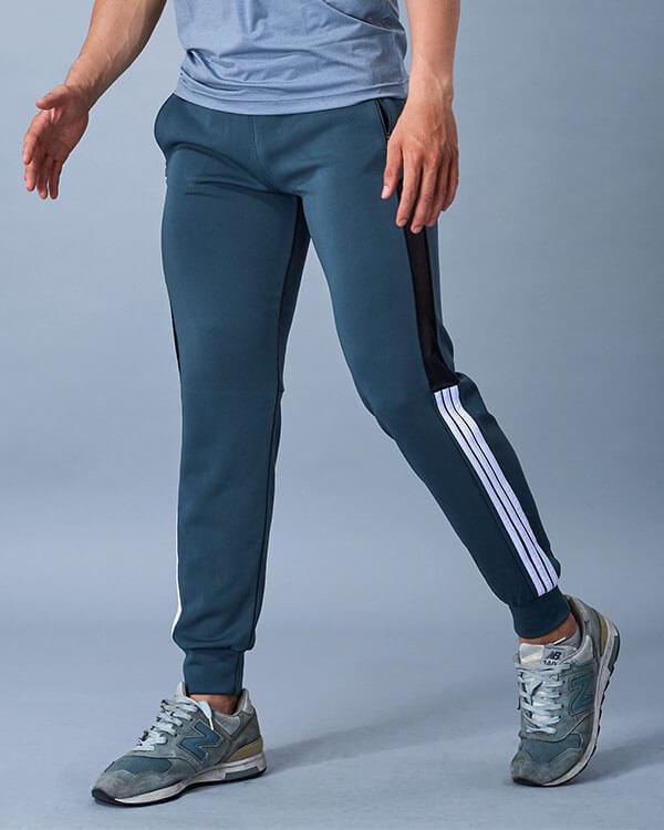 quần dài jogger tập gym yoga nam sọc lưới sg9