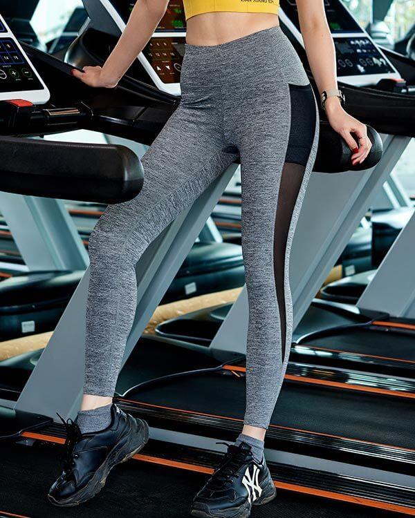 Quần dài tập gym yoga nữ icado phối lưới qd-19