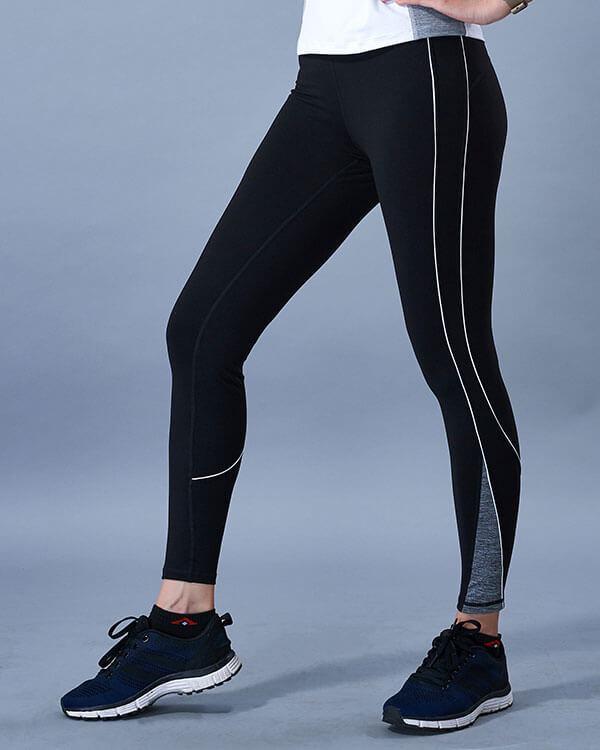 quần dài tập gym yoga nữ icado sọc trắng qd-22