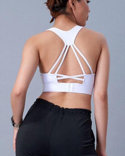 Áo bra tập gym nữ đan lưng cài khuy HN20