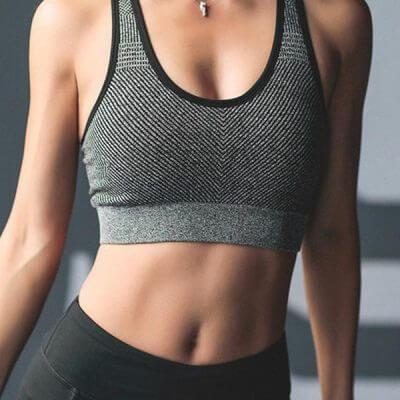 Áo bra tập gym nữ kẻ dây BG