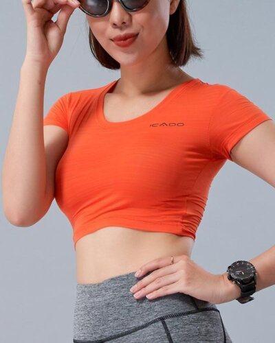 Áo croptop tập gym nữ MM17