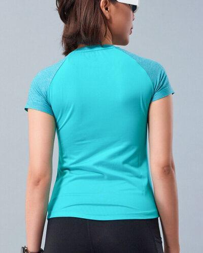 Áo ngắn tay tập gym nữ cổ tim HY11