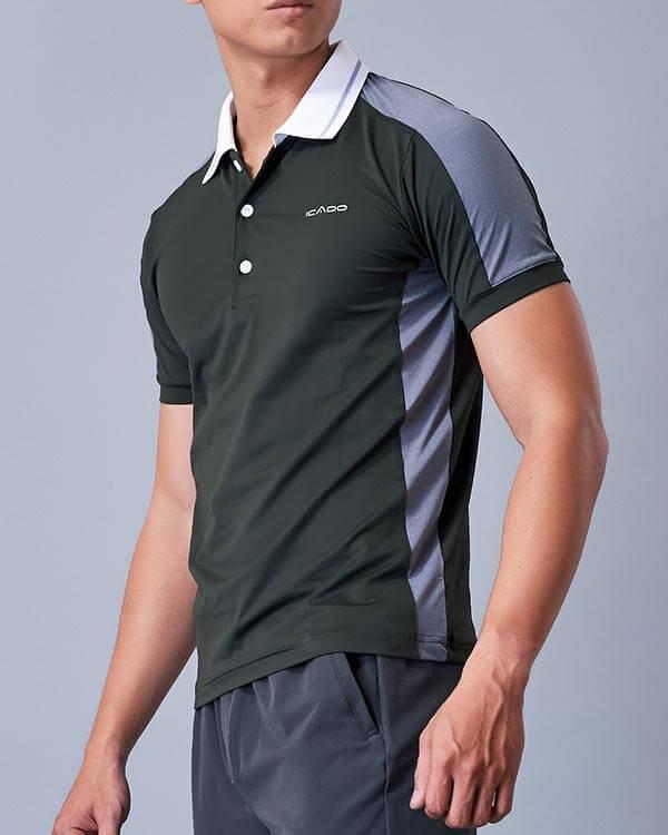 Áo ngắn tay tập gym nam có cổ HY22