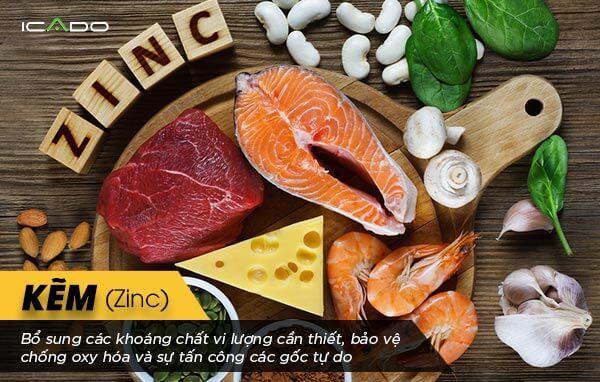 Kẽm có nhiều trong các loại thực phẩm nguồn gốc động vật