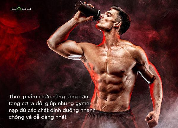 Thực phẩm chức năng tăng cơ tăng cân là gì?