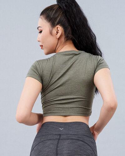 Áo croptop tập gym nữ MM25