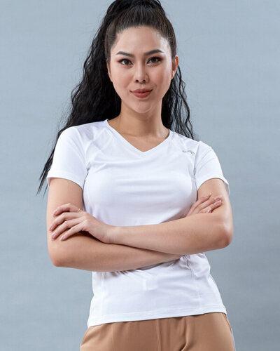 Áo ngắn tay thể thao nữ cổ tim at5