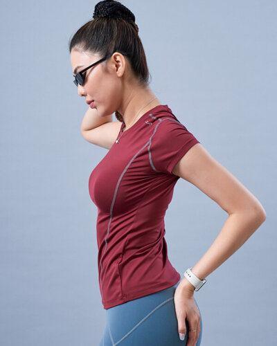 Áo ngắn tay tập yoga nữ AT7