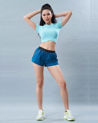 set đồ tập yoga 12 áo croptop quần đùi
