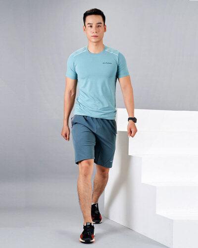 set gym nam 1 áo thun quần đùi