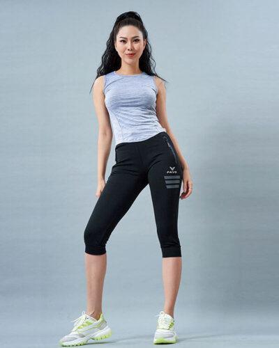 set yoga nữ 2 áo ba lỗ quần lửng legging