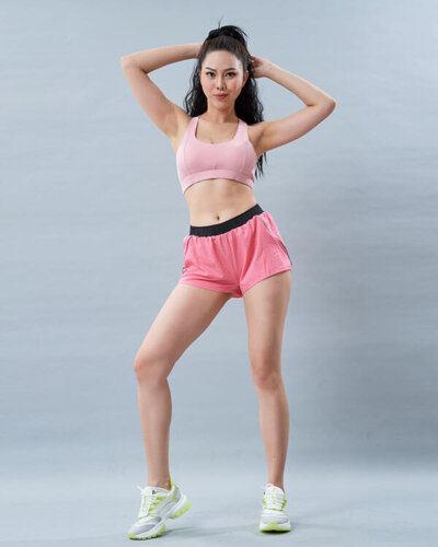 set yoga nữ 5 áo bra quần đùi