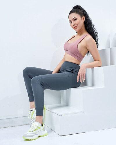 set yoga nữ 11 áo bra quần jogger