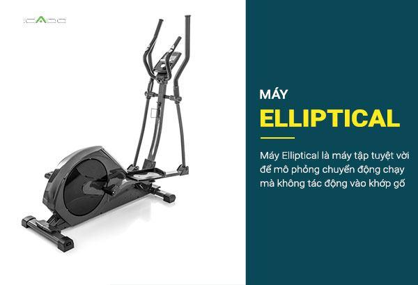 Máy Elliptical là máy tập tuyệt vời để mô phỏng chuyển động chạy