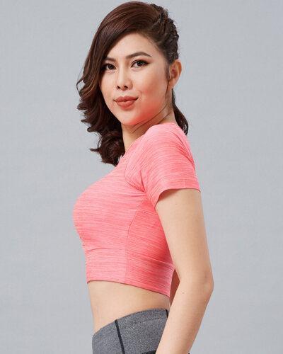Áo croptop tập gym nữ AT4