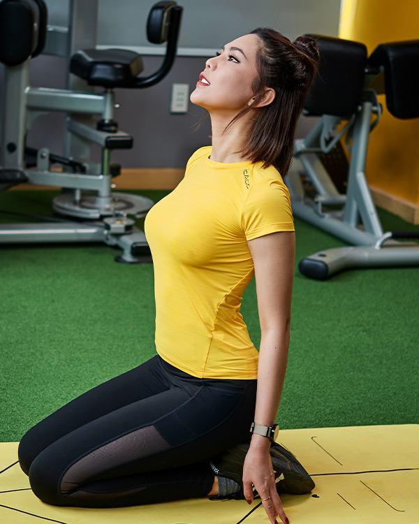 Áo thun tập gym nữ cổ thuyền ICADO AT6