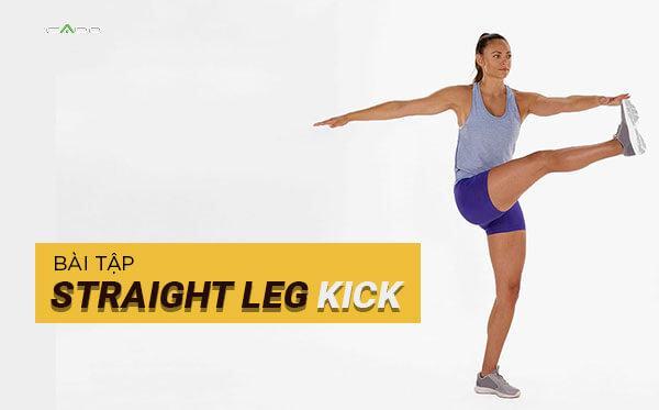 Shoulder press with straight leg kick