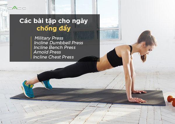 Để nhắm mục tiêu các cơ vai phía trước một cách hiệu quả, điều quan trọng là phải thực hiện các chuyển động ép dọc / nghiêng.