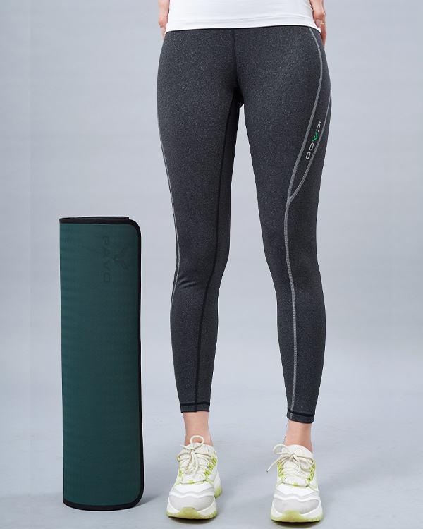 Quần legging tập gym nữ lưng bản ICADO QD32