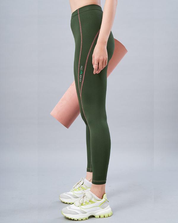 Quần legging thể thao nữ lưng bản ICADO QD32