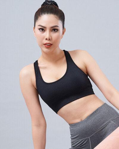 Set gym nữ 14: Áo bra CH11 & quần legging QD26