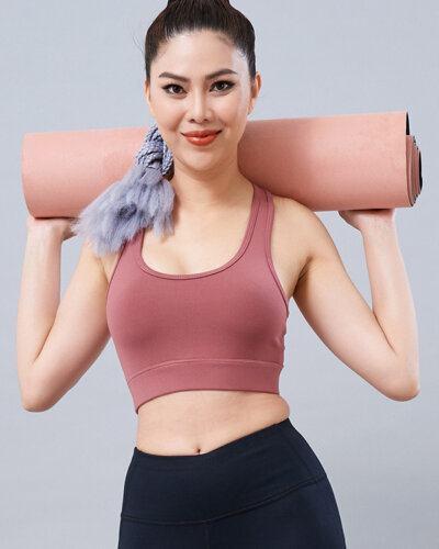 Set yoga nữ 16: Áo bra QL5 & quần legging QD30