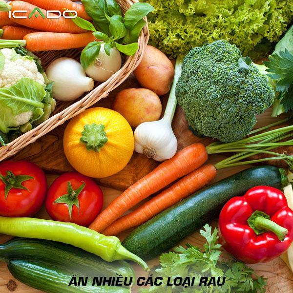 Nhiều loại rau nên chiếm khoảng một nửa đĩa ăn của bạn vào cả bữa trưa và bữa tối