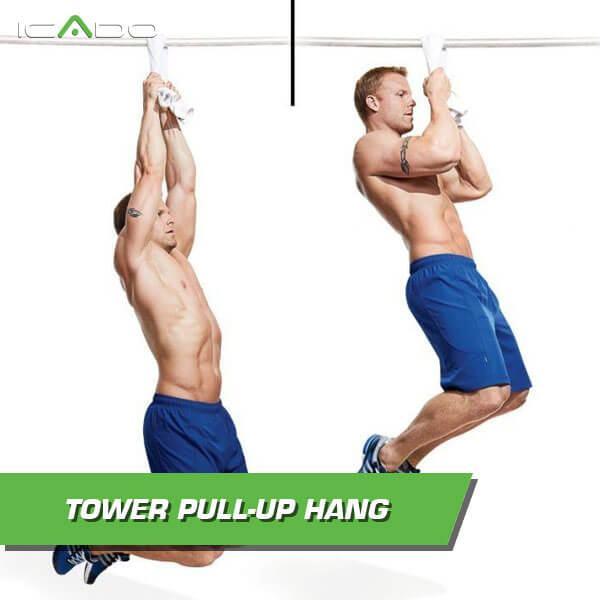 Towel pull-up hang